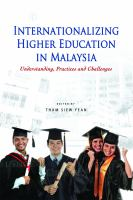 Internationalizing Higher Education in Malaysia
