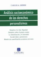 Análisis socioeconómico de los derechos personalísimos