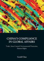 China's Compliance in Global Affairs