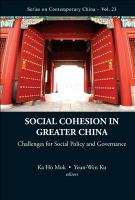 Social Cohesion in Greater China
