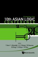 Proceedings of the 10th Asian Logic Conference, Kobe, Japan, 1-6 September 2008