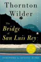 Cover image for The bridge of San Luis Rey