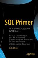 SQL primer : an accelerated introduction to SQL basics