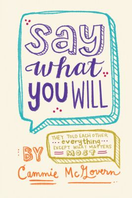 Cover image for Say What You Will