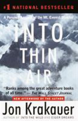 Cover image for Into thin air : a personal account of the Mount Everest disaster