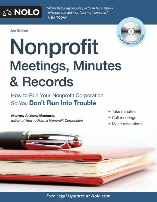 Nonprofit-meetings,-minutes-&-records-:-how-to-run-your-nonprofit-corporation-so-you-don't-run-into-trouble