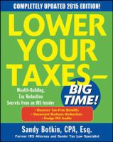 Cover image for Lower your taxes—big time! Wealth-building, Tax Reduction Secrets from an IRS Insider