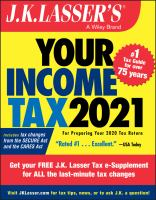 Cover image for J.K. Lasser's Your Income Tax