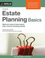 Cover image for Estate planning basics