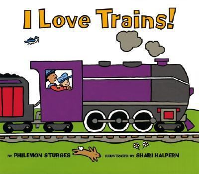 Cover image for I love trains!