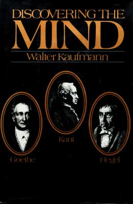 Cover image for Goethe, Kant, and Hegel