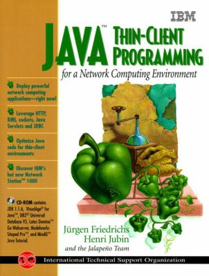 Cover image for Java thin-client programming for a network computing environment