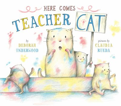 Cover image for Here comes teacher Cat