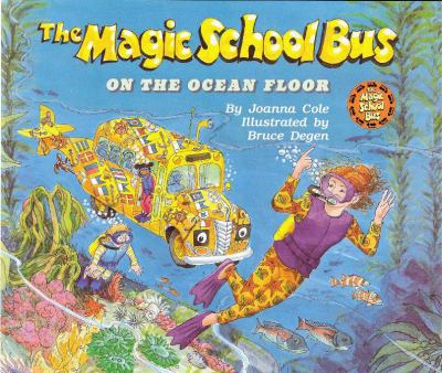 Cover image for The magic school bus on the ocean floor