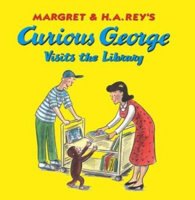 Cover image for Curious George visits the library