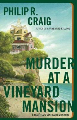 Cover image for Murder at a vineyard mansion : a Martha's Vineyard mystery