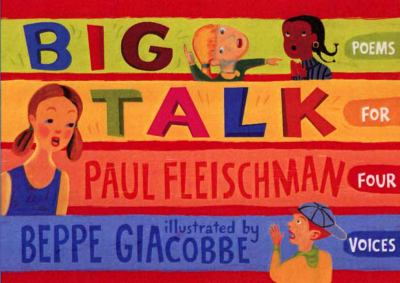 Cover image for Big talk : poems for four voices
