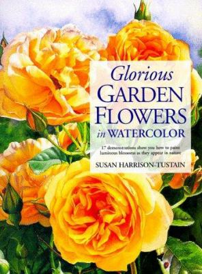 Cover image for Glorious garden flowers in watercolor