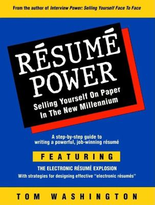 Cover image for Résumé power : selling yourself on paper