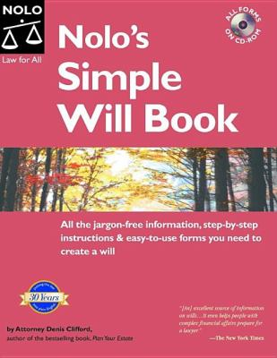 Cover image for Nolo's simple will book