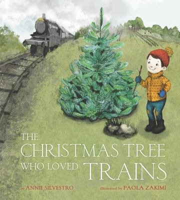 Cover image for The Christmas tree who loved trains