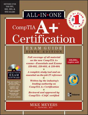 Cover image for All-in-one CompTIA A+ certification exam guide