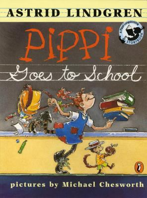 Cover image for Pippi goes to school