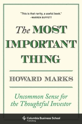 Cover image for The most important thing : uncommon sense for the thoughtful investor