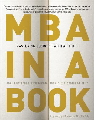 Cover image for MBA in a book : mastering business with attitude