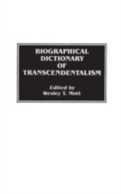 Cover image for Biographical dictionary of transcendentalism