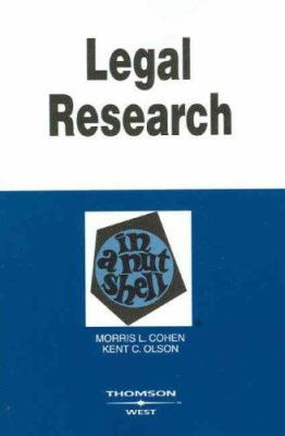 Cover image for Legal research in a nutshell