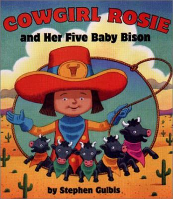 Cover image for Cowgirl Rosie and her five baby bison