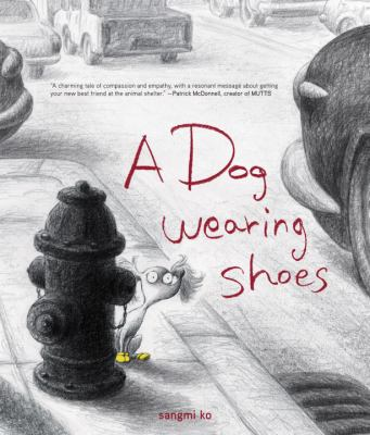 Cover image for A dog wearing shoes