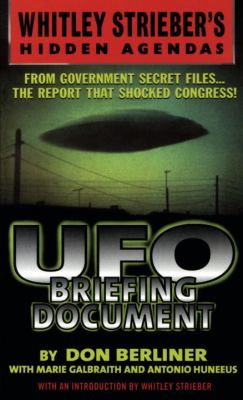 Cover image for UFO briefing document : the best available evidence