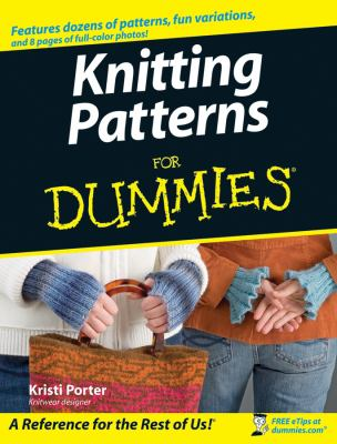 Cover image for Knitting patterns for dummies