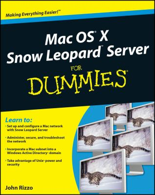 Cover image for MAC OS X Snow Leopard Server for dummies