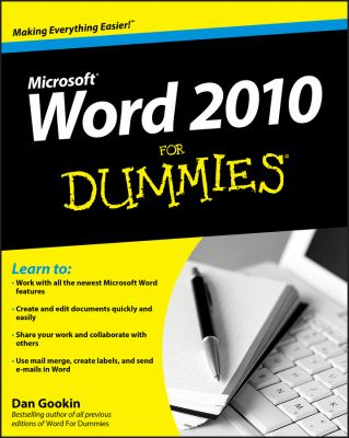 Cover image for Word 2010 for dummies
