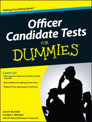 Cover image for Officer candidate tests for dummies