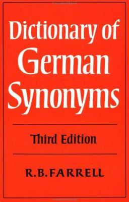 Cover image for Dictionary of German synonyms