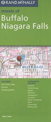 Cover image for Streets of Buffalo, Niagara Falls, New York : features full street index, schools, shopping malls : communities included--Amherst, Cheektowaga, Depew, Kenmore, Lackawanna, Lancaster, North Tonawanda, Sloan, Tonawands, Williamsville