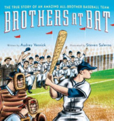 Cover image for Brothers at bat : the true story of an amazing all-brother baseball team