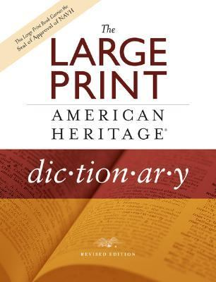 Cover image for The large print American Heritage dictionary.