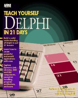 Cover image for Teach yourself Borland Delphi in 21 days