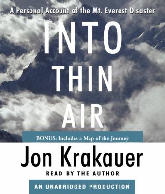 Cover image for Into thin air [a personal account of the Mt. Everest disaster]