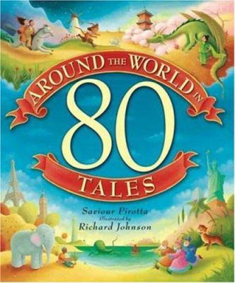 Cover image for Around the world in 80 tales