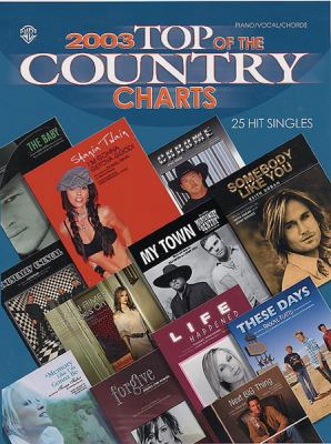Cover image for Top of the country charts : 25 hit singles ; [piano/vocal/chords]