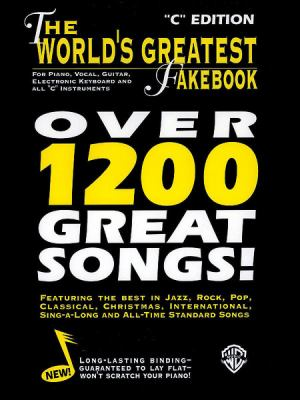"""Cover image for The World's greatest fakebook : for piano, vocal, guitar, electronic keyboard and all """"C"""" instruments."""