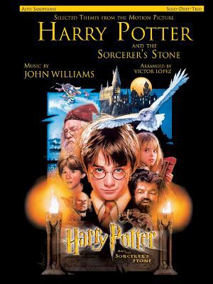Cover image for Selected themes from the motion picture Harry Potter and the sorcerer's stone : solo, duet, trio : alto saxophone