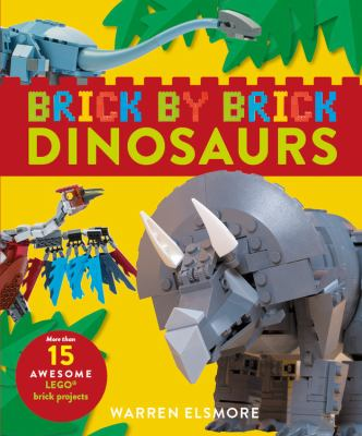 Cover image for Brick by brick dinosaurs