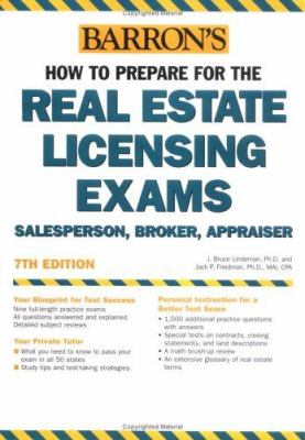 Cover image for Barron's how to prepare for the real estate licensing exams : salesperson, broker, appraiser